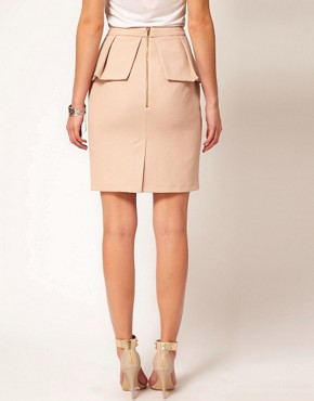 Image 2 ofOasis Asymmetric Pencil Skirt