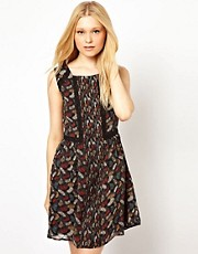 Darling Feather Print Dress