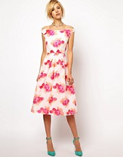 ASOS Prom Dress In Fluro Jaquard