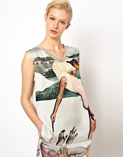 Louise Amstrup Swan Tank in Silk