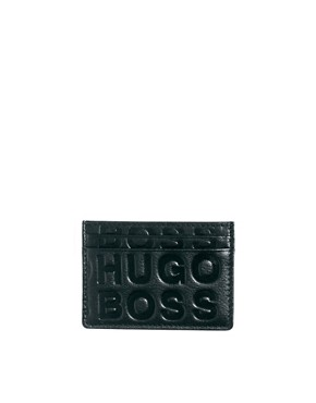 Image 1 ofBoss Black Leather Cardholder