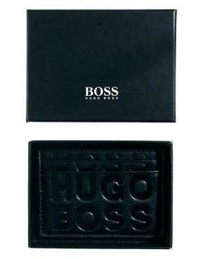 Image 3 ofBoss Black Leather Cardholder