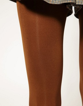 Image 2 ofASOS 80 Denier Tobacco Tights