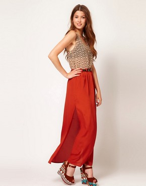 Image 1 ofPaprika Maxi Skirt With Belt