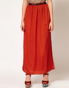 Image 4 ofPaprika Maxi Skirt With Belt