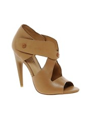 L.A.M.B Miyo Leather Heeled Sandal