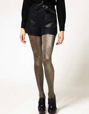 Image 1 ofASOS Metallic Tights