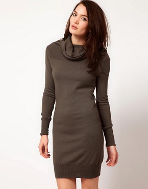 Image 1 ofUnconditional Extreme Funnel Neck Dress With Chest And Arm Rib