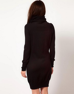 Image 2 ofUnconditional Extreme Funnel Neck Dress With Chest And Arm Rib