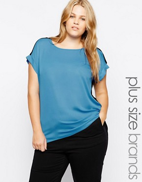 New Look Inspire Chiffon Front Tee