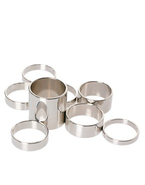 Image 2 ofASOS Pack of 8 Smooth Rings