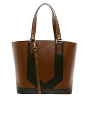 ASOS Leather Panel Shopper Bag