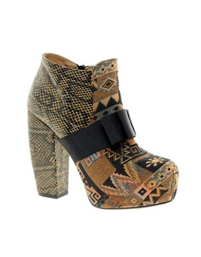 Image 1 ofASOS ABANDON Platform Leather Ankle Boots