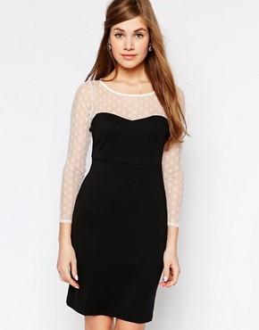 True Decadence Dress with Polka Dot Sleeves
