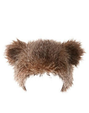 Image 2 of ASOS Faux Fur Bear Ears Hat