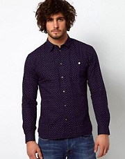Paul Smith Jeans Shirt with Cross Bandana Print Tailored Fit