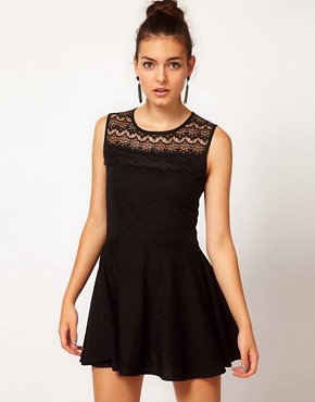Image 1 ofLe Ciel Dress With Lace