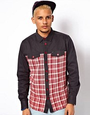 Makia Shirt Combination Check And Plain