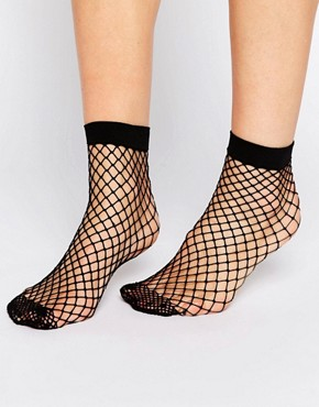 ASOS Oversized Fishnet Ankle Socks