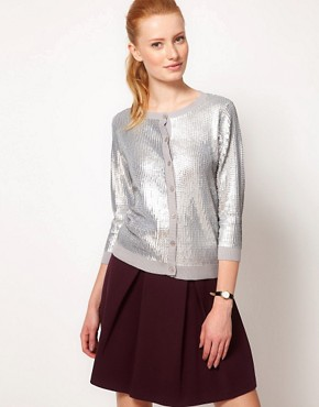 Image 1 ofOasis Liquid Sequin Cardigan