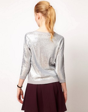 Image 2 ofOasis Liquid Sequin Cardigan