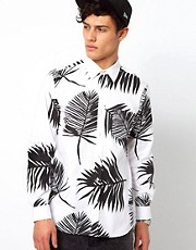 A Question Of Shirt with Leaf Print