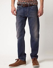 Diesel - Larkee-T 801V - Jeans regular dritti effetto consumato