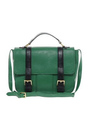Image 1 ofASOS Satchel Bag With Straight Flap
