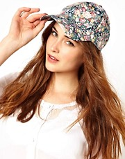 Pieces Greta Floral Cap