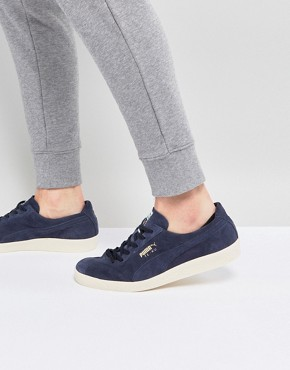 Puma Te-ku Trainers Suede Trainers In Navy 36499002