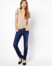 7 For All Mankind Kristen Mid Rise Skinny Jeans