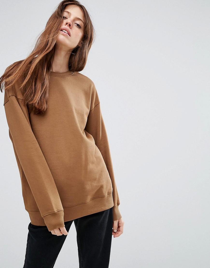 ASOS - Ultimate - Übergroßes Sweatshirt - Braun - Farbe:Braun