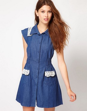 Image 1 ofMax C Denim Shirt Dress