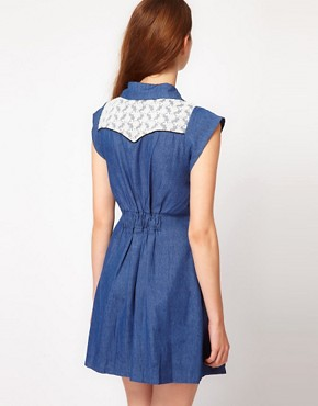 Image 2 ofMax C Denim Shirt Dress