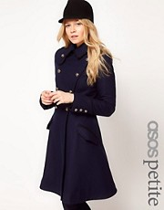 ASOS PETITE Military Fit And Flare Coat