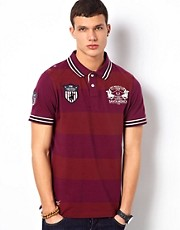 Santa Monica Club Striped Polo Shirt