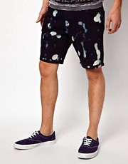 ASOS Denim Shorts With Bleach Splat