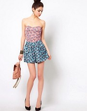 House Of Dereon Floral Print Shorts