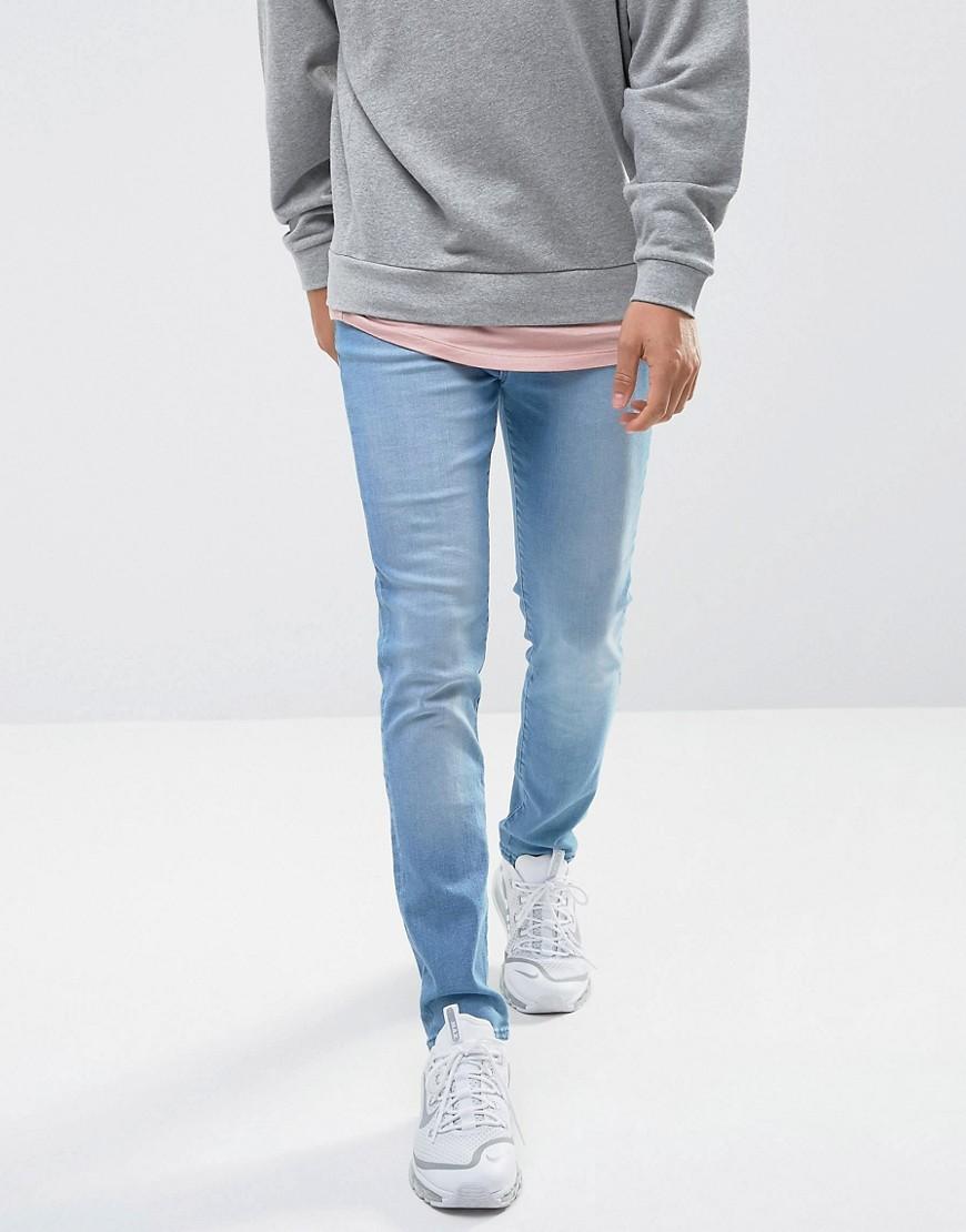 Waven Verner Skinny Fit Jeans in Ice Blue - Blue