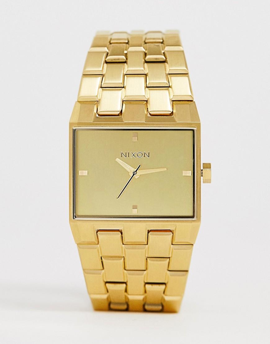 Золотистые часы Nixon A1262 Ticket II - Золотой
