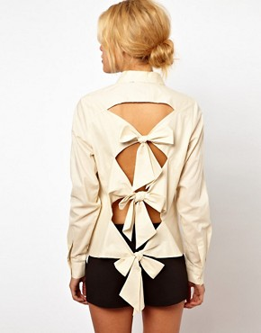Image 1 ofASOS Shirt With Bow Back Detail