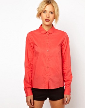 Image 2 ofASOS Shirt With Bow Back Detail