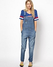 ASOS Vintage Wash Denim Dungarees
