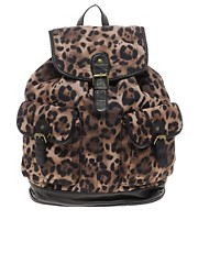 New Look Leopard Backpack