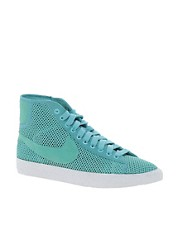Nike Blazer Mid Mesh Turquoise High Top Trainers