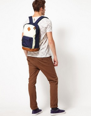 Image 4 ofASOS Contrast Canvas Backpack