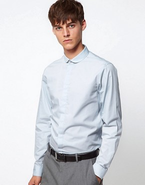 Image 1 ofASOS Smart Shirt With Curve Collar