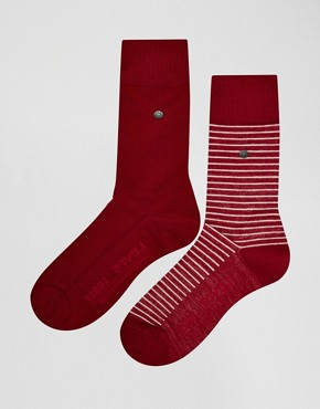 Levi's Stripe Socks In 2 Pack
