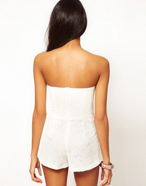 Image 2 ofRare Lace Bandeau Playsuit