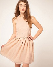 ASOS Skater Dress With Scattered Sequins